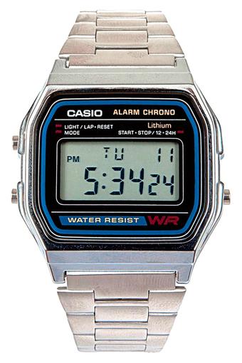 save off b37bb 7ec63 Casio Vintage A158WA-1DF Silver