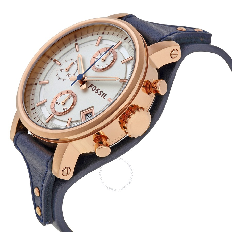 Fossil- ES3838 Boyfriend (Blue and Rosegold) – Farah Watches