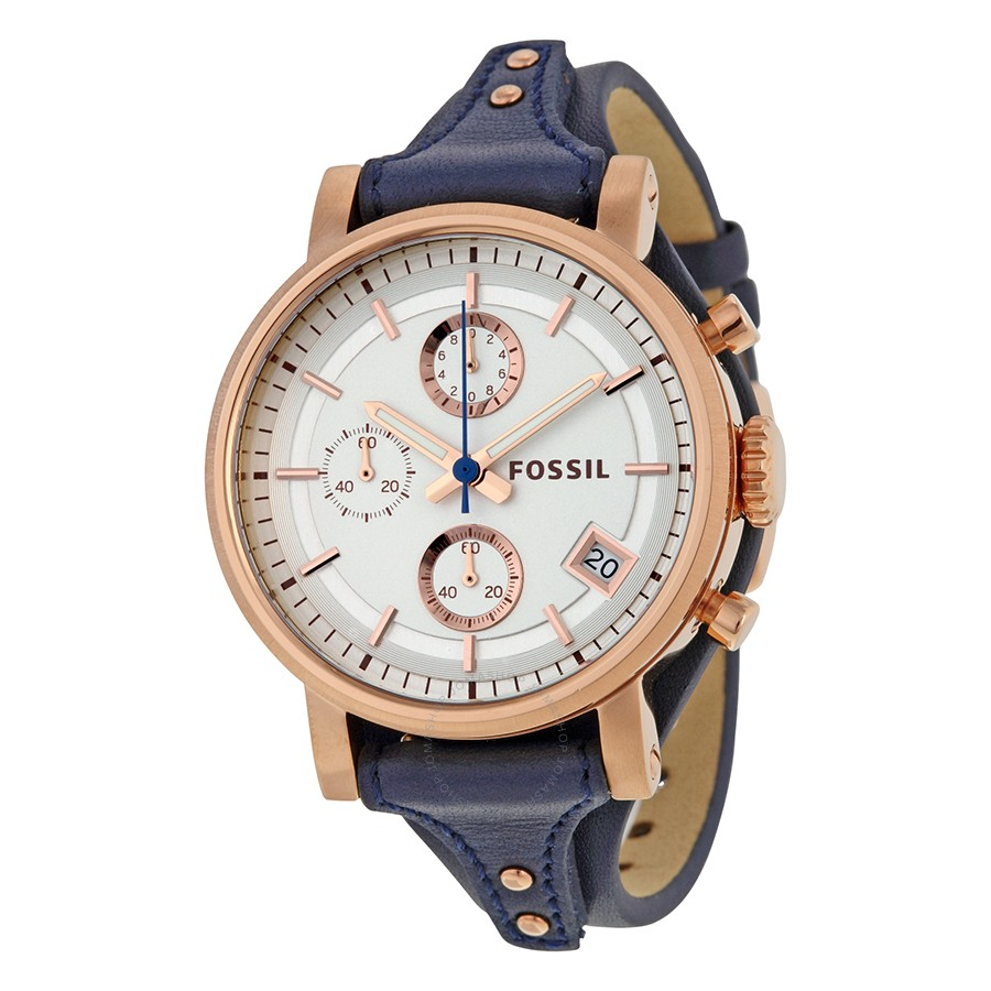 Fossil Es3838 Boyfriend Blue And Rosegold Farah Watches Jr1401 Nate Chronograph Black Stainless Steel Watch